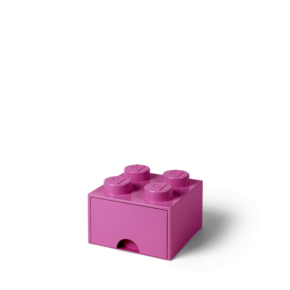 LEGO Storage LEGO Opbevaringsskuffe Brick 4 - Lys Pink - Opbevaring - LEGO Storage