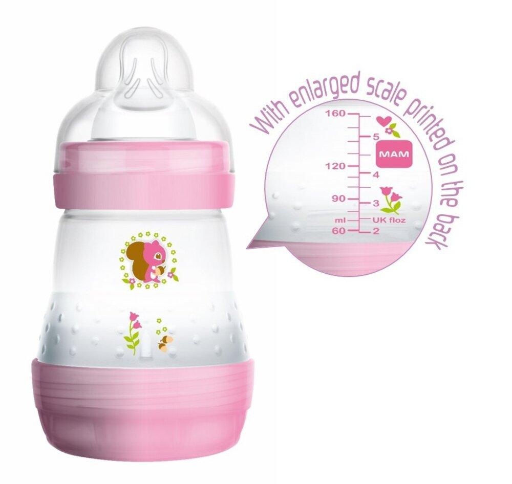 Image of   MAM Sutteflaske Easy Start Anti-Colic 160ml - Pink