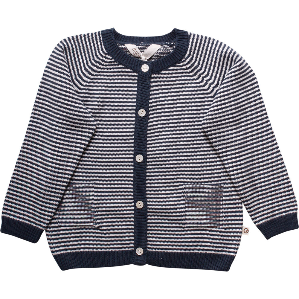Müsli Knit Stripe Cardigan - Midnight - Overdele - Müsli