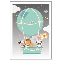 Luftballon Plakat - 50x70 Cm
