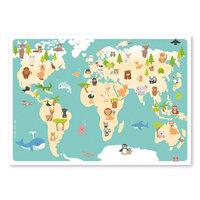 Verdens dyr plakat, 50*70 cm