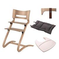 Leander® højstol combipakke med bøjle, hynde og bakke - Natur