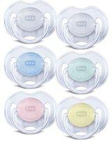 Sut, Transparent - 0-6 Mdr - 2 Stk - Flere farver