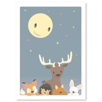 Natten I Skoven Plakat - 50 x 70 Cm