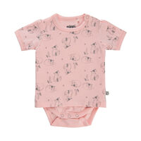 Mønstret T-shirt-Body - 519 Peachskin