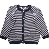 Knit Stripe Cardigan - Midnight