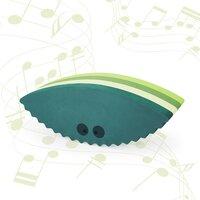 bObles musling med lyd - multi grøn