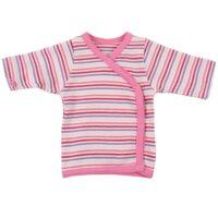 Wrap Bluse - Little Bee - Pink Strib