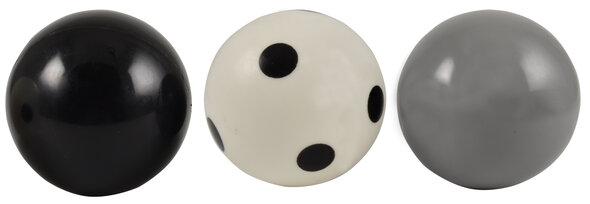 Bolde - Sort, grå, prikket
