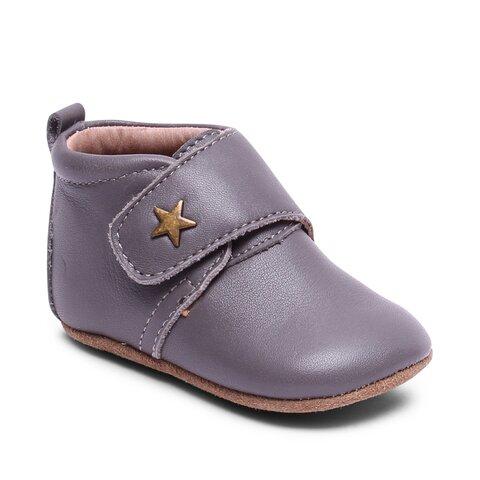 Hjemmesko, Velcro Star - 70 Grey