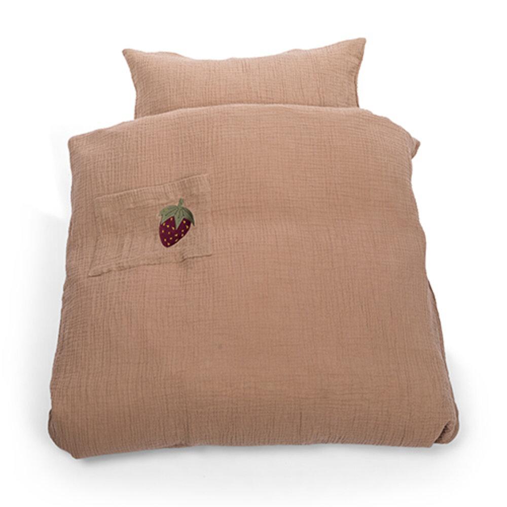 That´s Mine Sengetøj jordbær muslin baby - Dyne & pudebetræk - That´s Mine