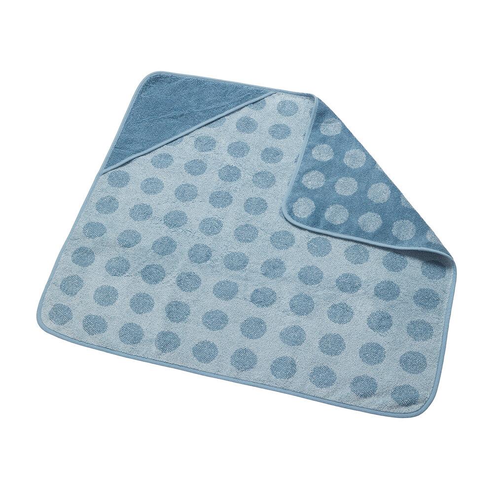 Billede af Leander babyhåndklæde - Matty Hoodie - Dusty Blue