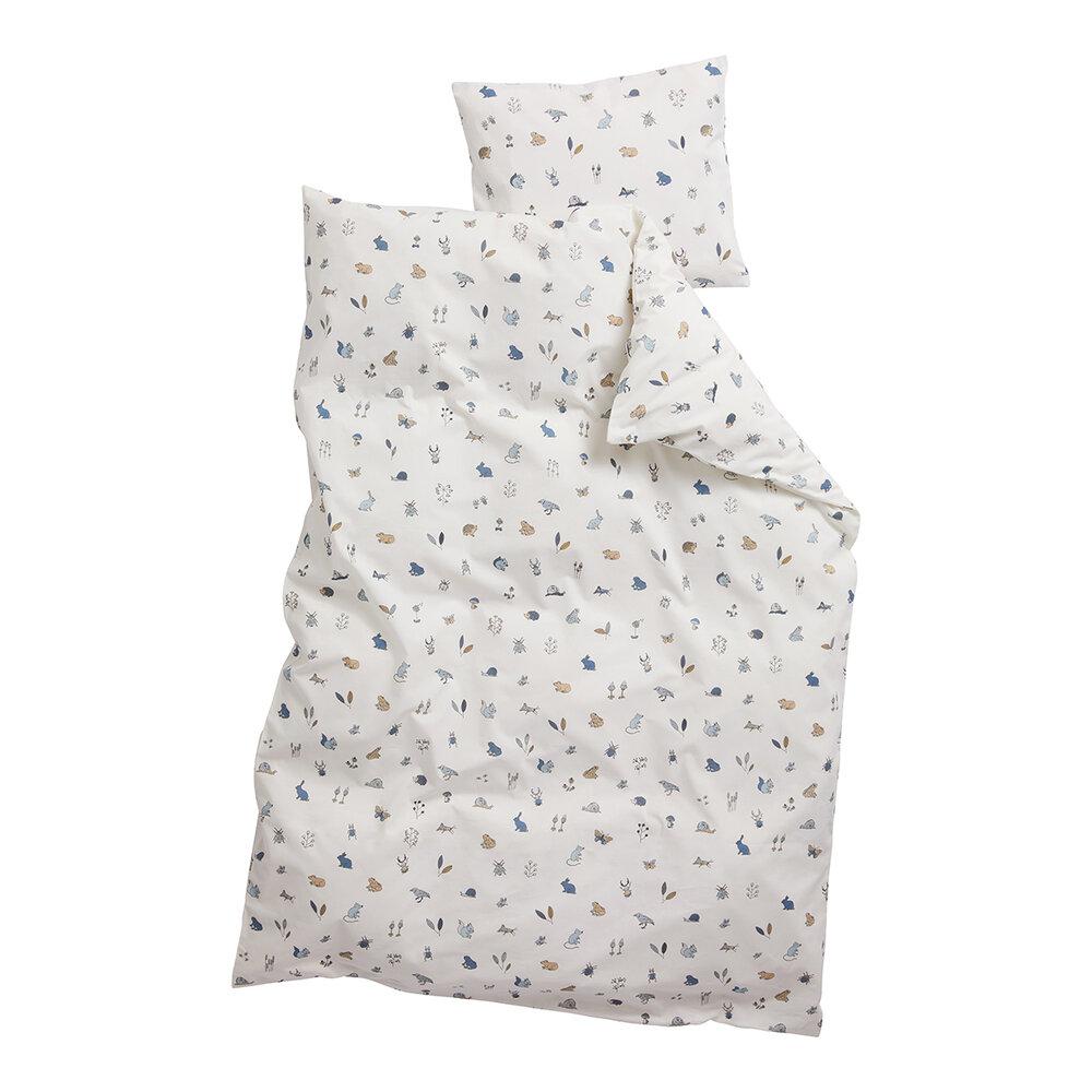 Leander Juniorsengetøj, forrest dusty blue - Dyne & pudebetræk - Leander