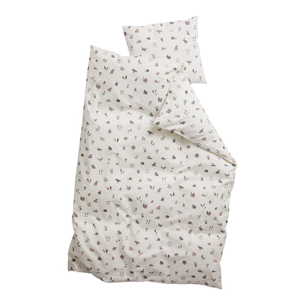 Leander Juniorsengetøj, forrest dusty rose - Dyne & pudebetræk - Leander