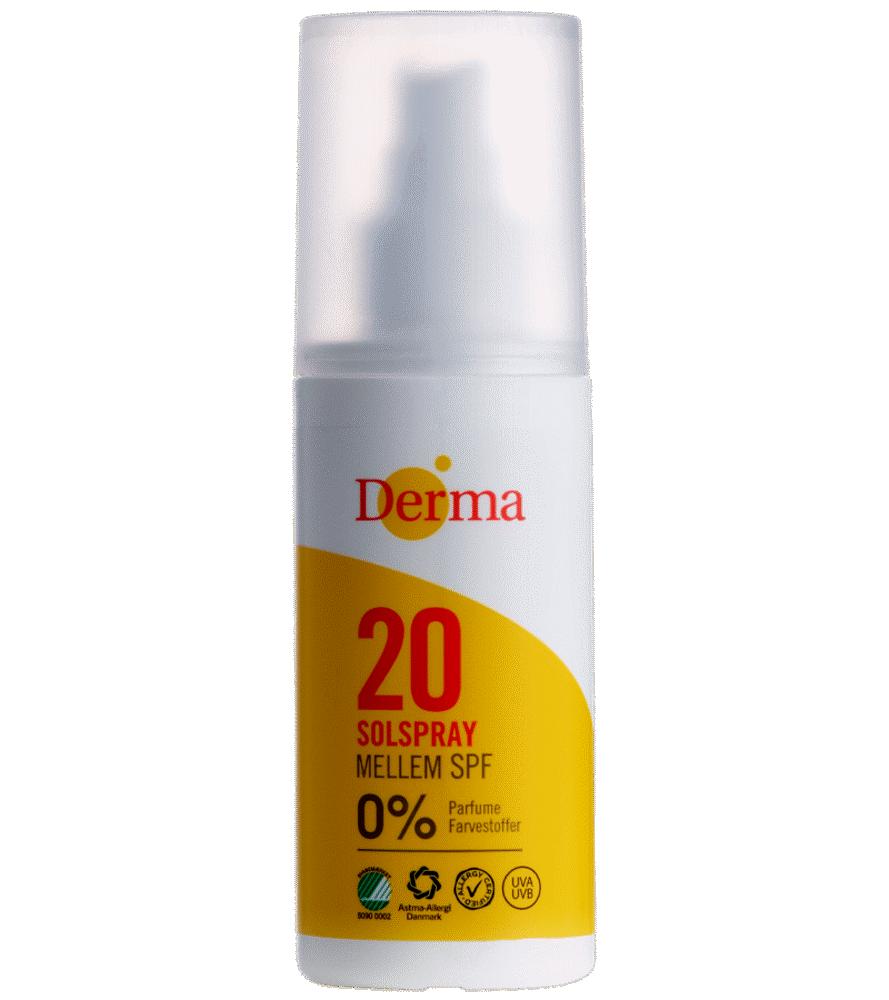 Image of Derma sun solspray mellem SPF20 150 ml. (4462e2b9-5f3a-4ac7-8f91-91559ed300d8)