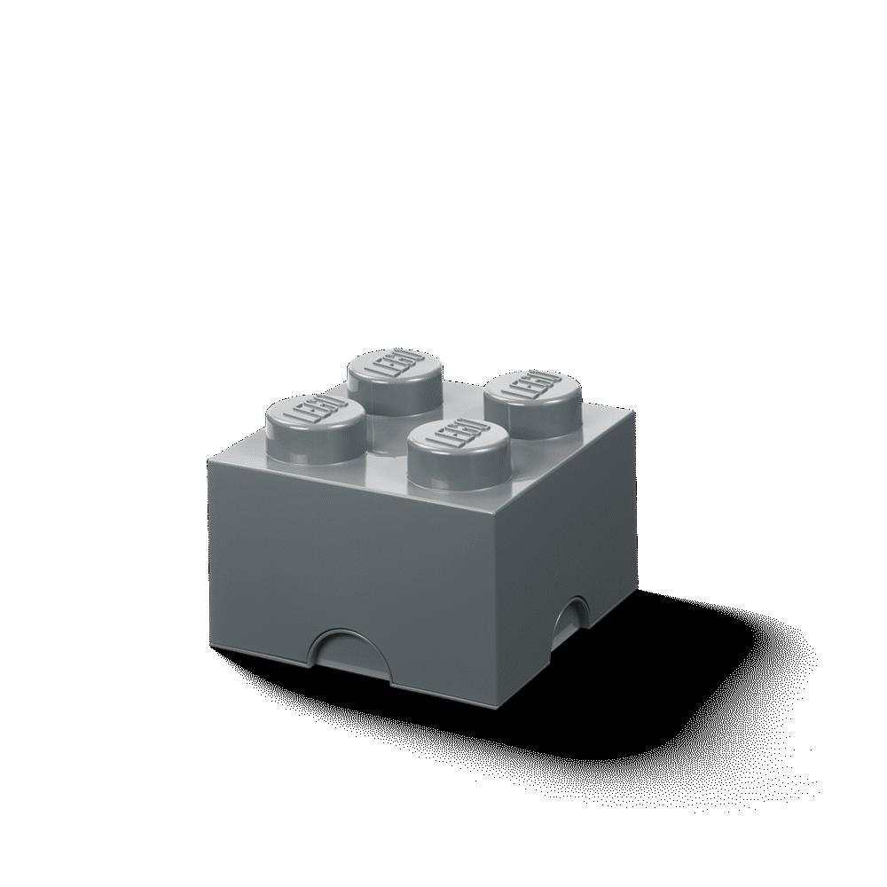 LEGO Storage Opbevaringskasse brick 4 dark stone grey - Opbevaring - LEGO Storage