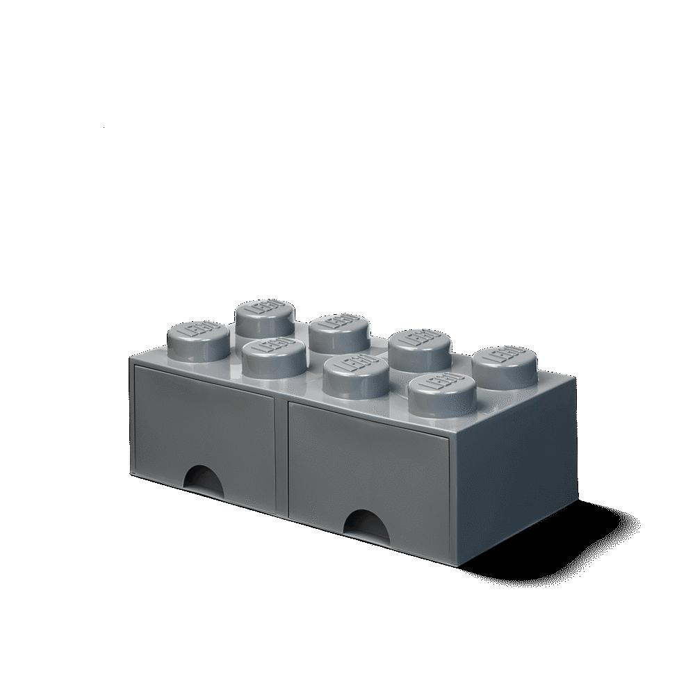 LEGO Storage Opbevaringsskuffe brick 8 dark stone grey - Opbevaring - LEGO Storage