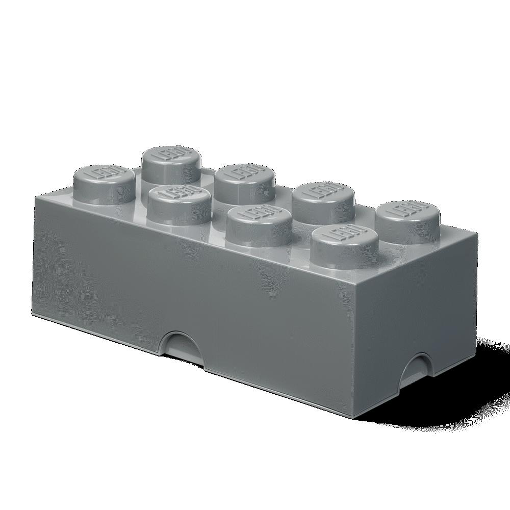 LEGO Storage Opbevaringskasse brick 8 dark stone grey - Opbevaring - LEGO Storage