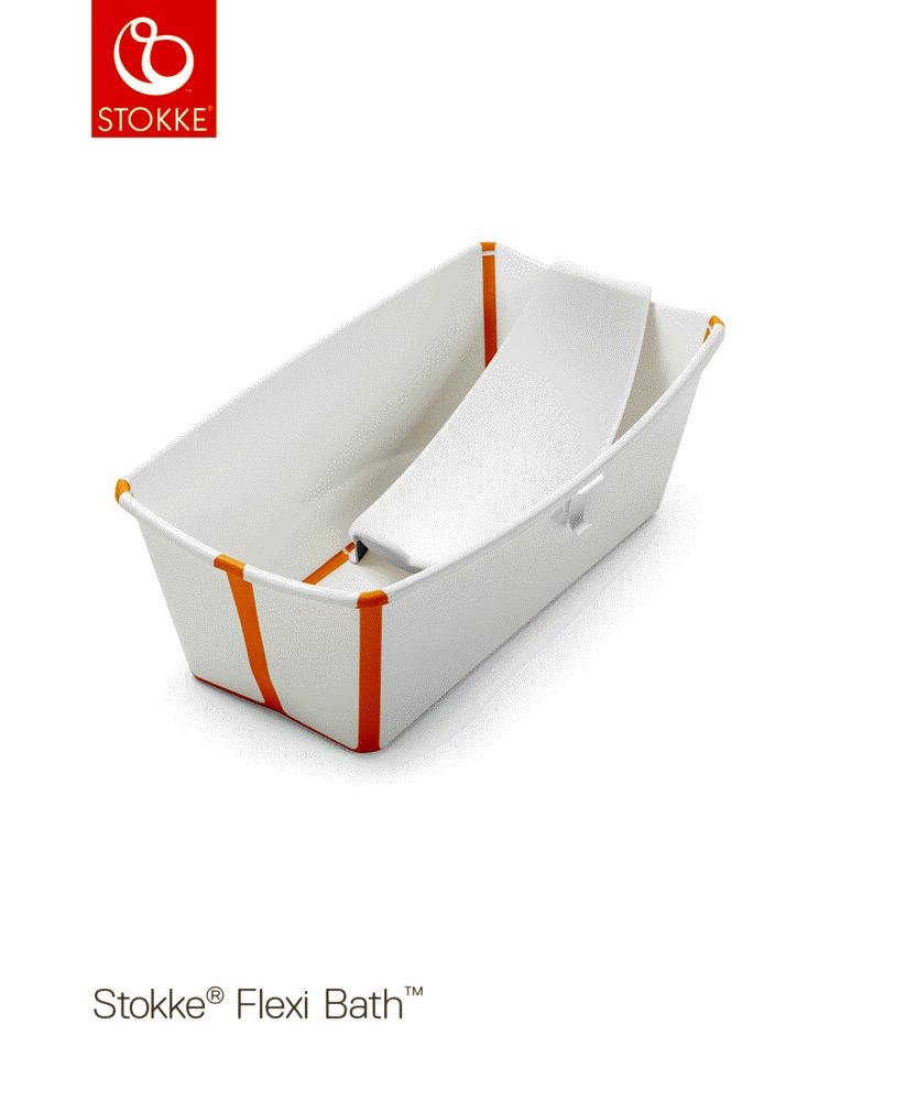 Image of Stokke® Flexi Bath og Newborn Support Med Varmefølsom Prop, Hvid/Gul (3e650a8c-8810-48c5-97bc-4b7469b5c63d)