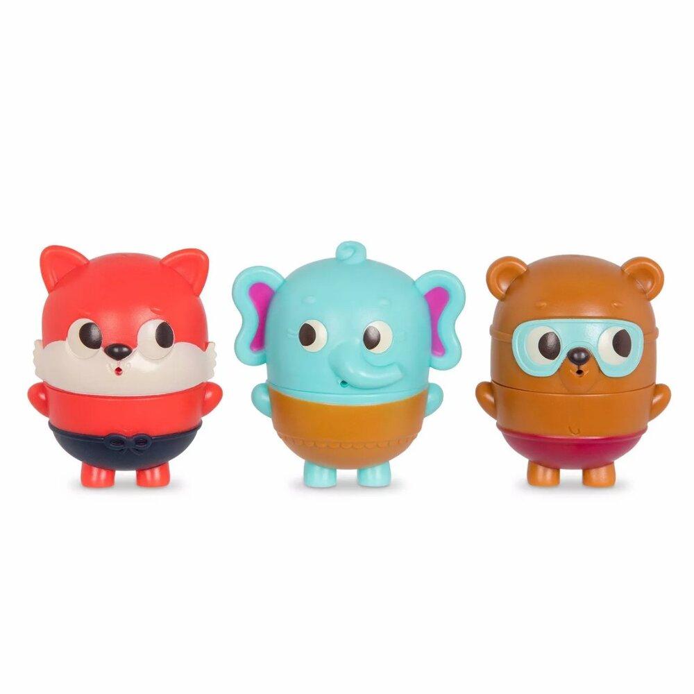 Image of   B Toys Badeleg, elefant, bjørn og ræv