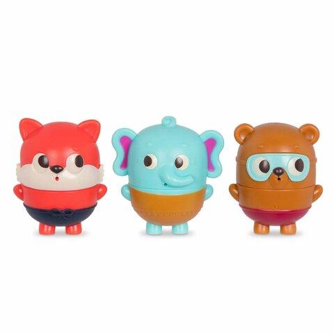 Badeleg, elefant, bjørn og ræv