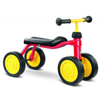 Gåcykel 4 hjul Pukylino, Rød
