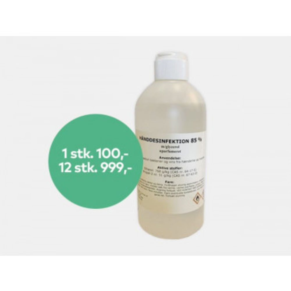 Image of   Hånddesinfektion 85 % 500 ml.