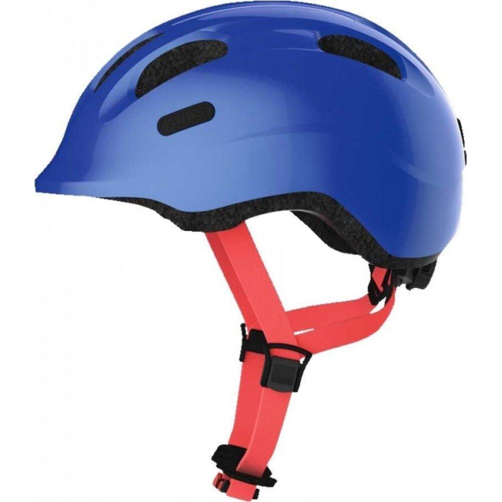 Image of   Abus Smiley hjelm m/ lys i spænde ensf. blå str M 50-55