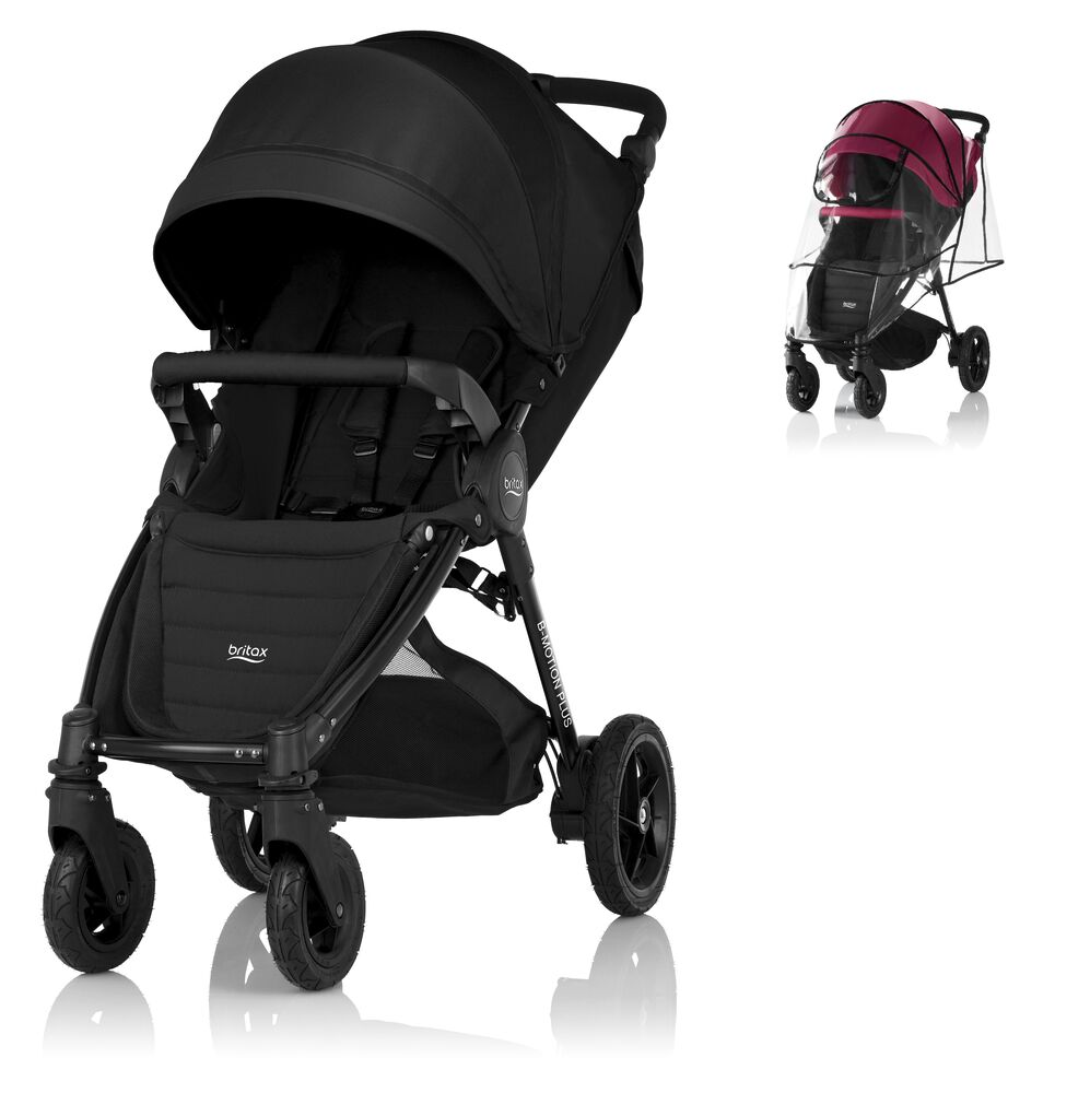 Image of   Britax B-motion 4+ black inkl. regnslag
