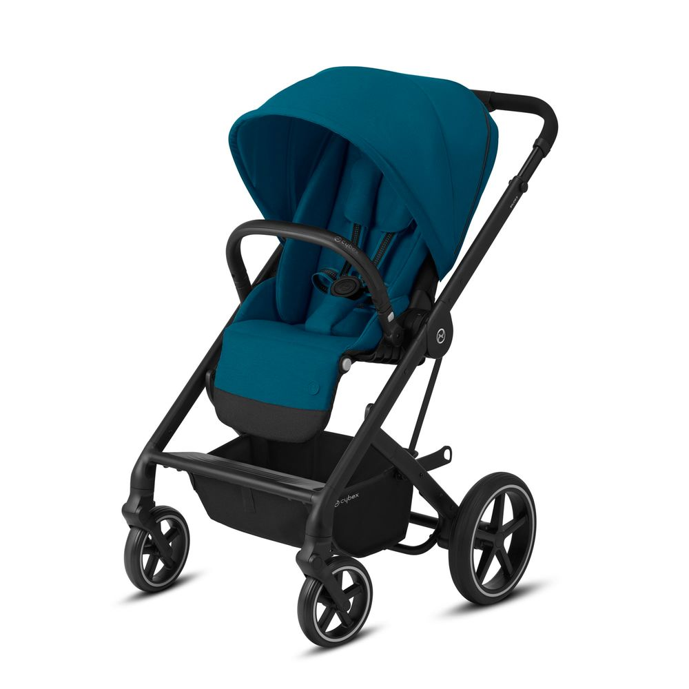 Image of   Cybex Balios S Lux sort stel - River blue