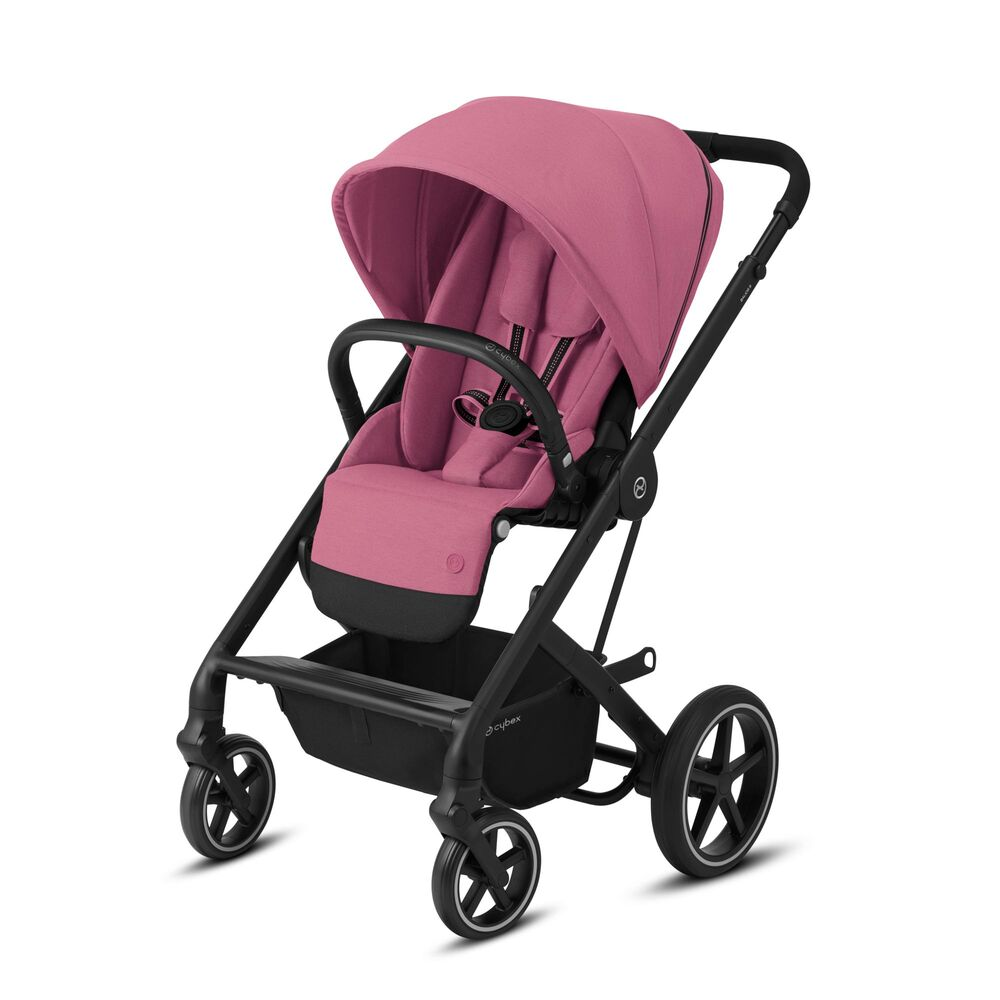 Image of   Cybex Balios S Lux sort stel - Magnolia pink