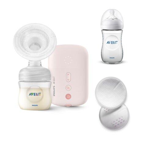 Natural motion, elektrisk brystpumpe inkl. sutteflaske og ammeindlæg