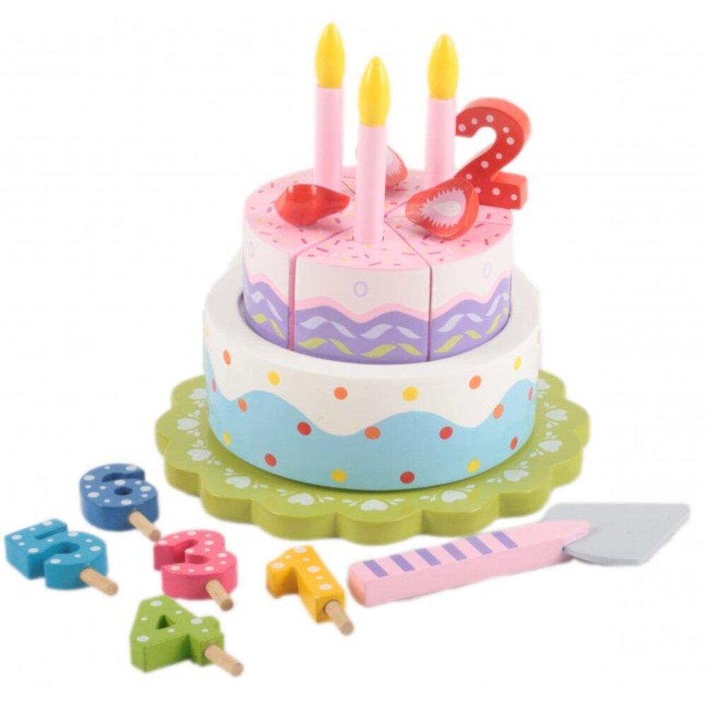 Magni Fødselsdagskage Med Musik - Trælegetøj - Magni