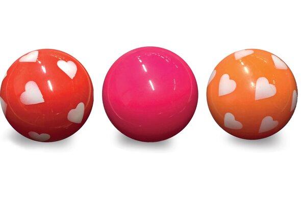 3 Plast Bolde I Net, Rød