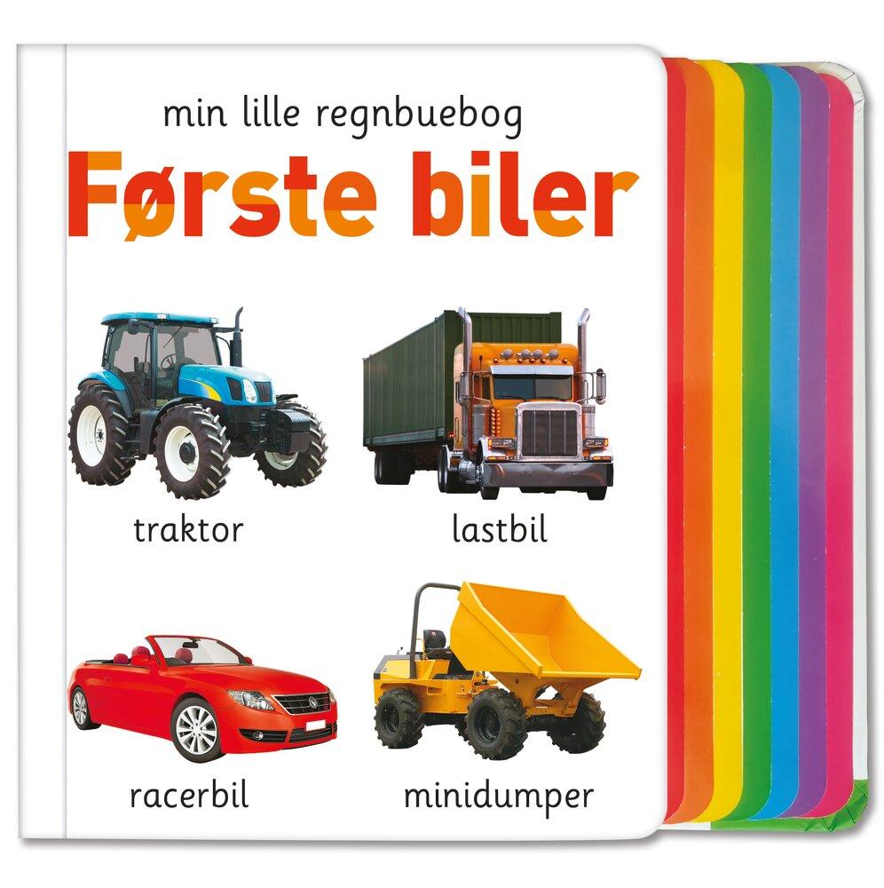 Alvilda Min lille regnbuebog - Første biler - Børnebøger - Alvilda