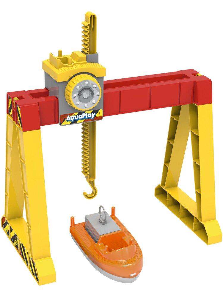 Image of Aquaplay Container Kran Sæt (025381f5-1a25-4811-9f97-4f5a510b355a)