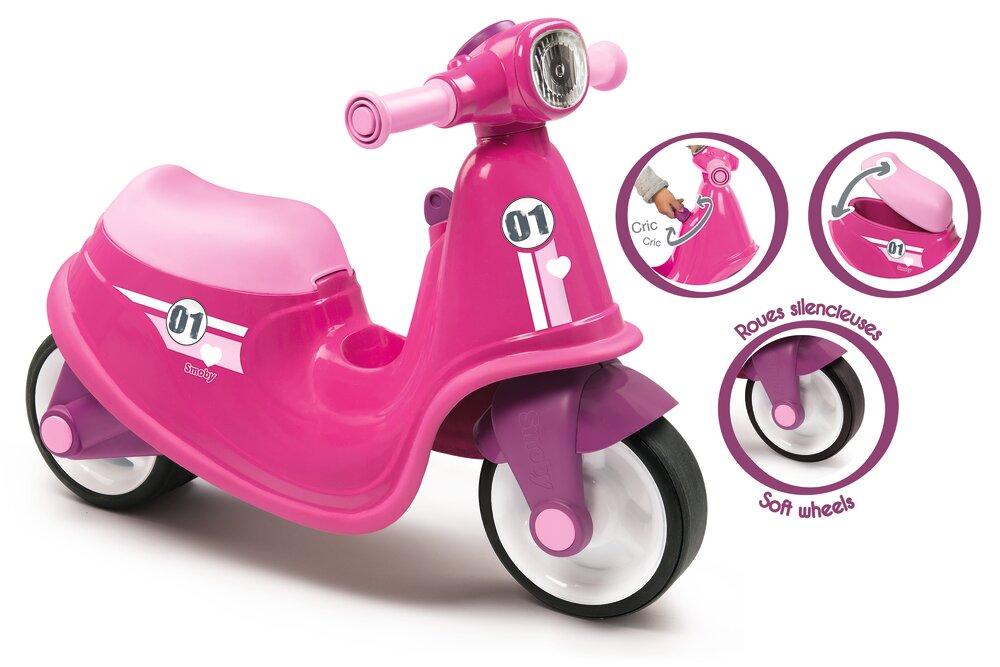 Image of Smoby Scooter Til At Sidde På - Pink (46a045e1-21f5-47bc-a635-ab59caeadcce)