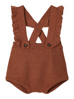 GUDRUN knit bloomers - CAROB BROWN