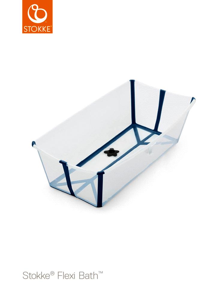 Image of Stokke® FlexiBath XL, Transperant Blue (29440022-f96f-40d1-b747-76b43693a553)