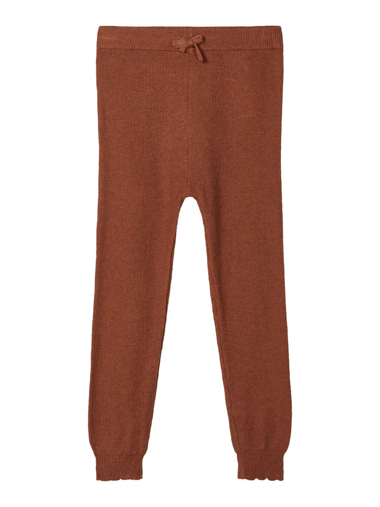 Image of Lil' Atelier GUDRUN slim knit pant - CAROB BROWN (4305f205-0d8d-49e6-bed7-31359b59aa84)