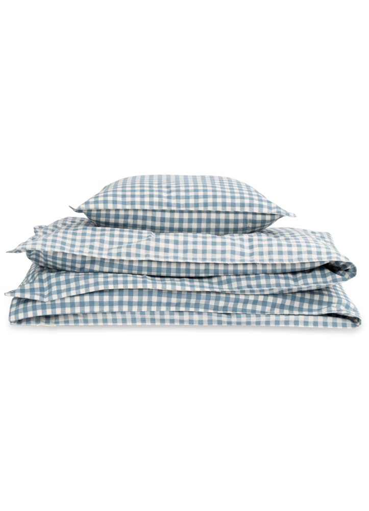 Image of Studio Feder Junior sengesæt - Gingham Blue (a4b161ed-887f-4d96-8f74-d9570f210430)