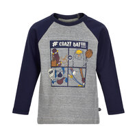 T-shirt langærmet print - 7140