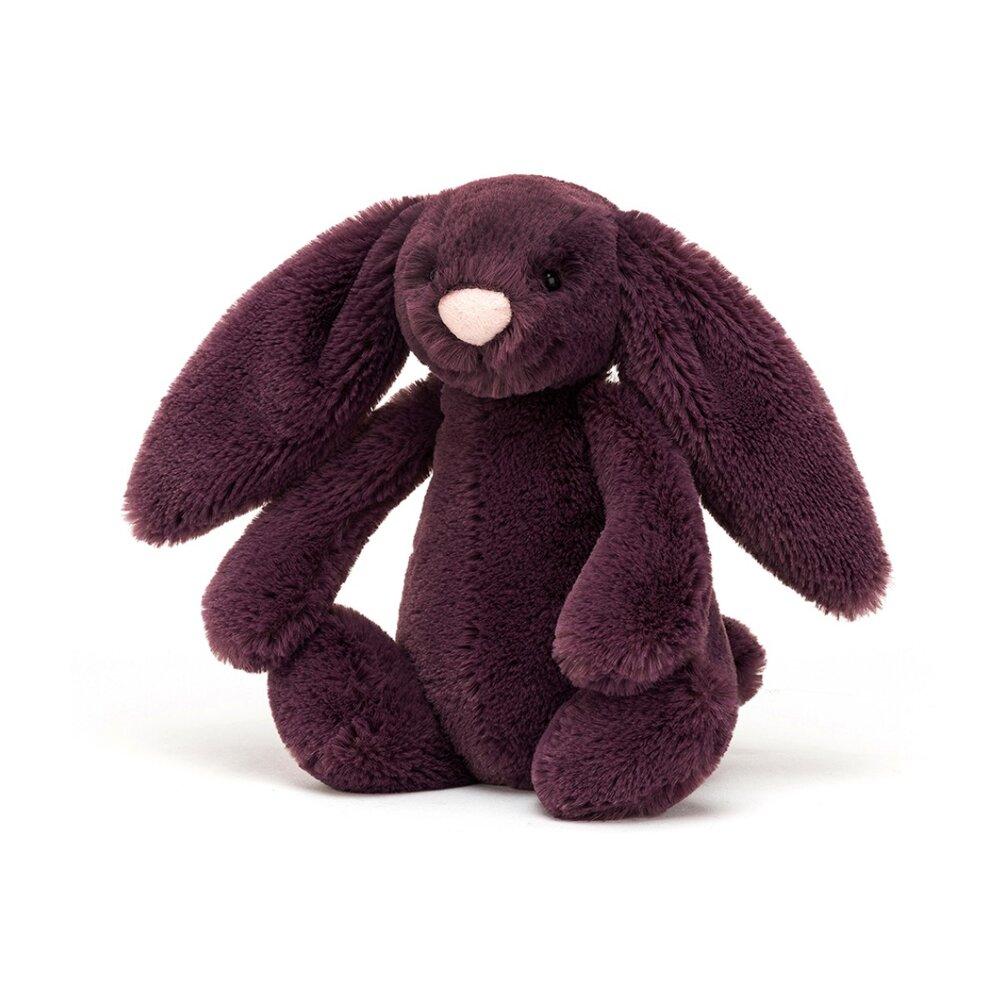 JellyCat Bashful kanin, Plum lille 18 cm