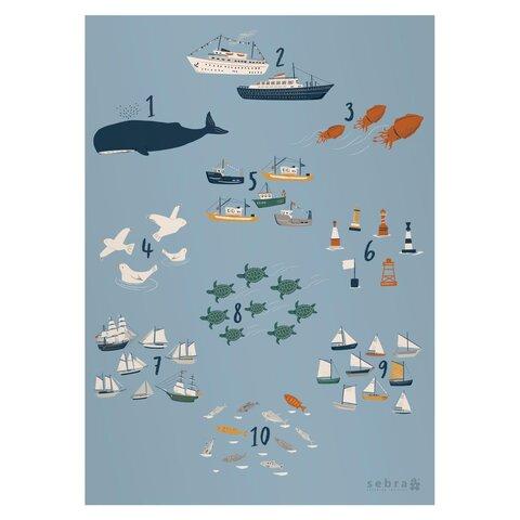 Plakat, tal,  Seven Seas
