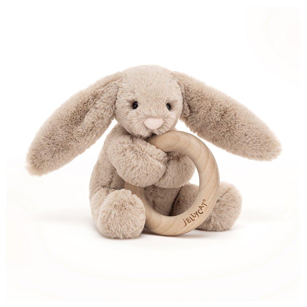 Image of JellyCat Bashful kanin Beige, m/træring (c8141069-bdca-42ae-994a-89c507d36818)
