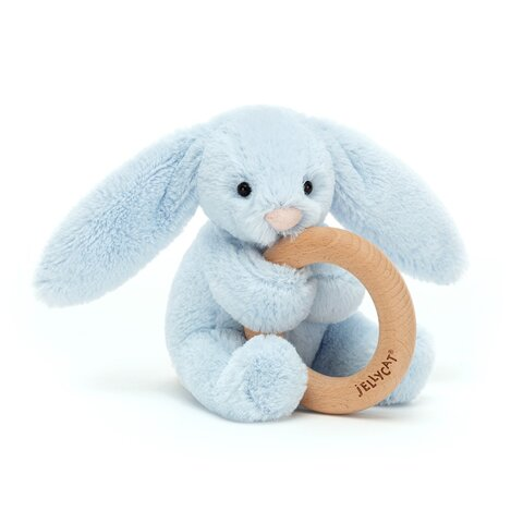 Bashful kanin lyseblå, m/træring
