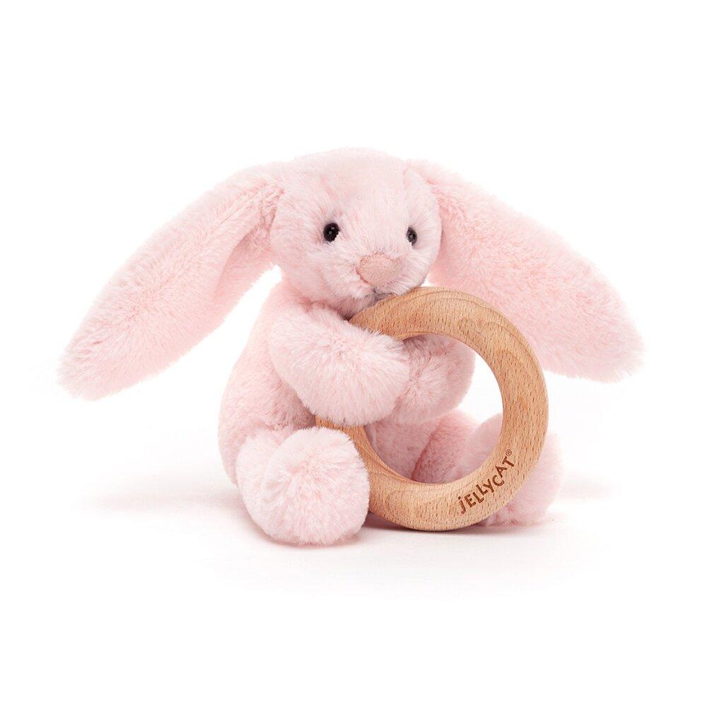 Image of JellyCat Bashful kanin lyserød, m/træring (9de11c7a-83c3-4732-bd09-da681b8acd7f)