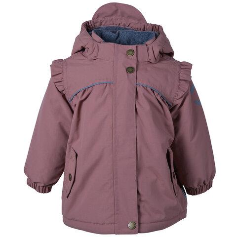 Nylon baby jakke - solid - Cedar Wood