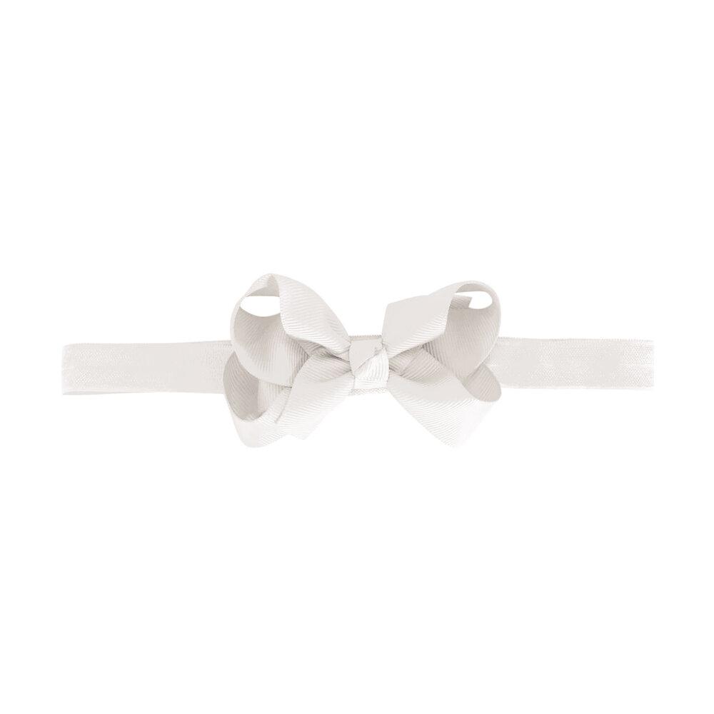 Image of Hvid Medium Milledeux® Dobbelt Hårsløjfe – Elastisk Hårbånd - 29 (cfe8e233-9660-4e36-b4a1-4798f85b1ea0)