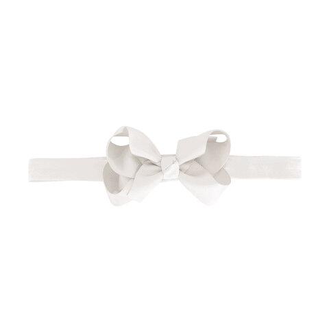 Hvid Medium Milledeux® Dobbelt Hårsløjfe – Elastisk Hårbånd - 29